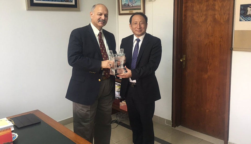 Chairman of Association of Chinese Enterprises, Li Zhizhun, calls on Senator Mushahid Hussain